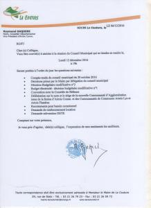 Conseil Municipal du 12/12/16