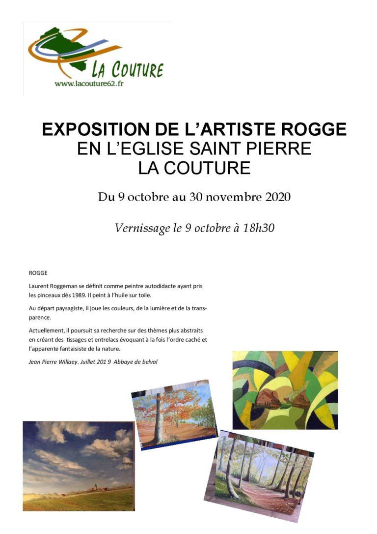 Exposition de l'artiste ROGGE à l'église SAINT PIERRE de LA COUTURE