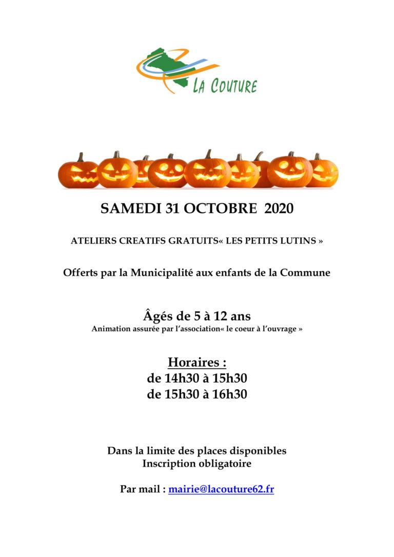 "Ateliers ""Les petits lutins"" – Octobre 2020"