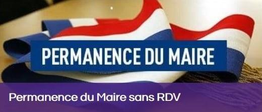 Permanence de M. le Maire – 11 Septembre 2021